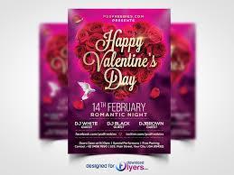 valentines day flyer psd template flyer psd