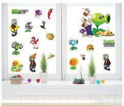 Plants Vs Zombies Decorations Cartoon Game Plants Vs Zombies Pvz Classic Peel And Stick Wall
