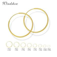 endless hoop earrings yellow gold color circles endless hoop earrings for women