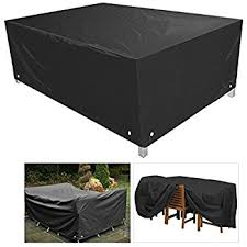 patio table and chair covers amazon com fellie cover 96 inch rectangular patio table and chair