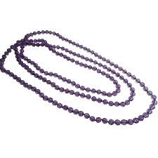 round bead necklace images Glass beads long summer multifaceted round beads necklace gift jpg