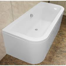 eden d shaped 1700 x 750 double ended back to wall bath 248 00 at zoom