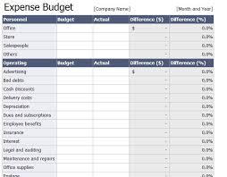 Dues Spreadsheet Company Expense Budget Spreadsheet Helloalive