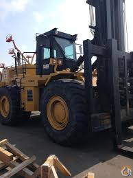 1999 caterpillar 988b 55 000 lb rough terrain forklift crane for