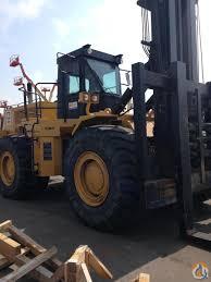 1999 caterpillar 988b 55 000 lb rough terrain forklift crane for