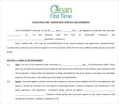 sample cleaning contract template sample cleaning contract
