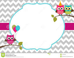 owl invitation template 28 images blank owl invitations www