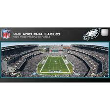 philadelphia eagles home decor master pieces philadelphia eagles panoramic stadium puzzle 1 000