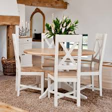 Oak Dining Room Table Chairs Painted Oak Dining Table And Chairs 7265