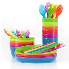 ikea kalas children s plastic bowls cups plates cutlery set