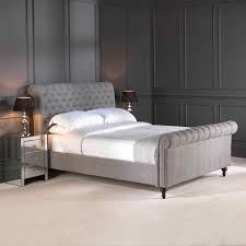 Tufted Sleigh Bed Bedding Cool Upholstered Sleigh Bed With Drawers Queen Size