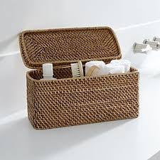 baskets wicker wire woven and rattan crate and barrel