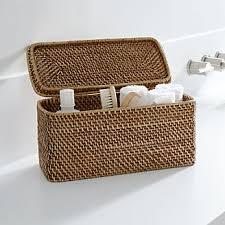 Wicker Bathroom Storage by Bathroom Storage Crate And Barrel