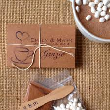 hot cocoa wedding favors wedding favors aisle society