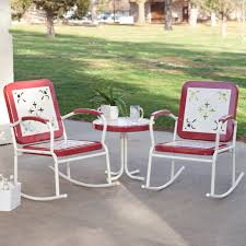 Rocking Chair Clearance Coral Coast Paradise Cove Retro Metal Rocking Chairs Set Of 2