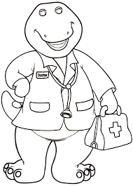 barney coloring pages download print free