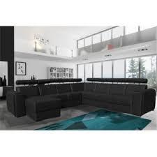 canapé 10 places rocambolesk canapé valetta réversible panoramique 10 places noir