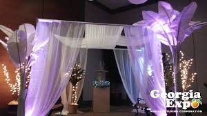 pipe and drape trade show displays party backdrops wedding