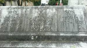 captain j d scott 1826 1884 grave site billiongraves
