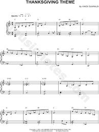 vince guaraldi thanksgiving theme sheet piano in c