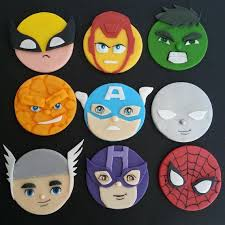 marvel cake toppers marvel dc justice league inspired fondant