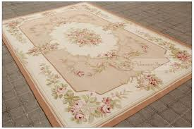 6x9 Wool Area Rugs 6x9 Wool Aubusson Area Rug Shabby Chic Pastel Pink Ivory