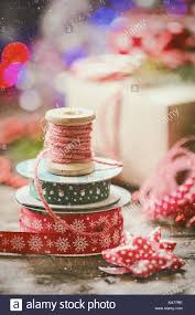 ribbon spools christmas decoration with vintage ribbon spools for gift