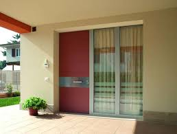 Metal Awnings For Front Doors Modern Exterior Doors With Raised Planter Contemporary Landscaping