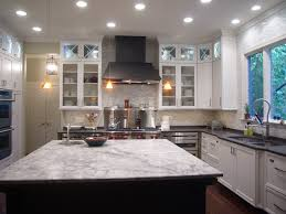 Aluminum Tile Backsplash by Ivory Fantasy Granite With White Cabinets Cream Cabinets Brown