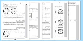 ks2 reasoning test practice measurement time arabic translation