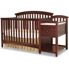 4 In 1 Crib With Changing Table Furniture Baby Crib With Changing Table Attached Mini Baby