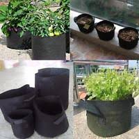 5 pack fabric grow bags 3 5 gallon garden flower plant pots root