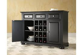 Black Buffet Table Alexandria Buffet Server Sideboard Cabinet With Wine Storage In