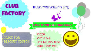 save money on club factory online shopping coupon code inside from