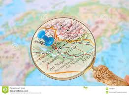 Baghdad Map Looking In On Baghdad Iraq Middle East Asia Stock Photo Image
