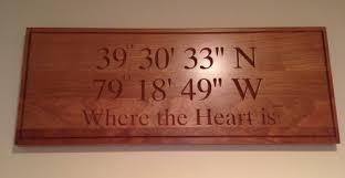 wooden coordinates sign by etsy u0027s bench mark custom signs u2014 dcl