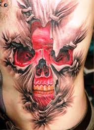 3d designs 3d skull tattoos ribs insigniatattoo com