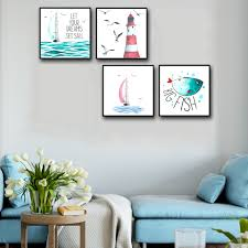 Marine Home Decor Online Get Cheap Marine Life Paintings Aliexpress Com Alibaba Group
