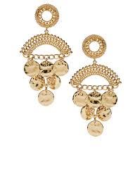 gunmetal chandelier earrings baum und pferdgarten asos coin detail chandelier earrings in