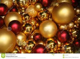 and gold baubles stock photo image of celebrate