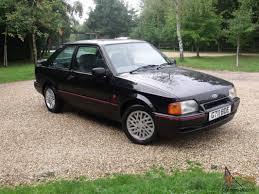 90 Ford Escort Ford Escort Xr3 I One Gentleman Owned From New Only 52 000 Miles