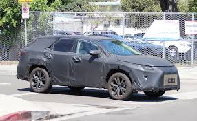 lexus electric car canada lexus rx with 3rd row could get styling tweak