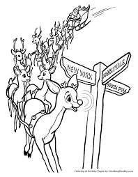 rudolph the red nose reindeer coloring page rudolph u0027s nose