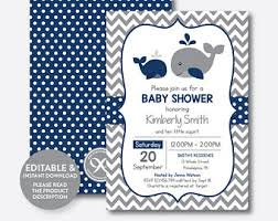 whale baby shower invitations whale baby shower etsy