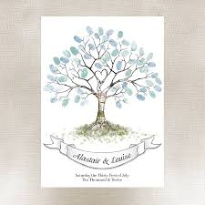 wedding fingerprint tree guest book wedding fingerprint tree