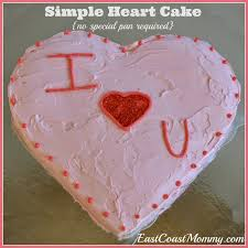 East Coast Mommy Simple Heart Shaped Cake No Special Pan Required