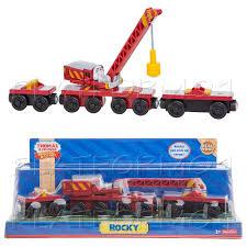 rocky crane magnetic arm thomas wooden engine train new