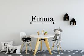 girls name arrow wall sticker girls name wall stickers 40 colours