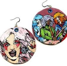 jemstar earrings jem and the holograms led dangle jemstar by jegascreations on etsy