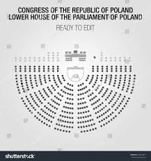 house of reps seating plan congress republic poland lower house parliament stock vector